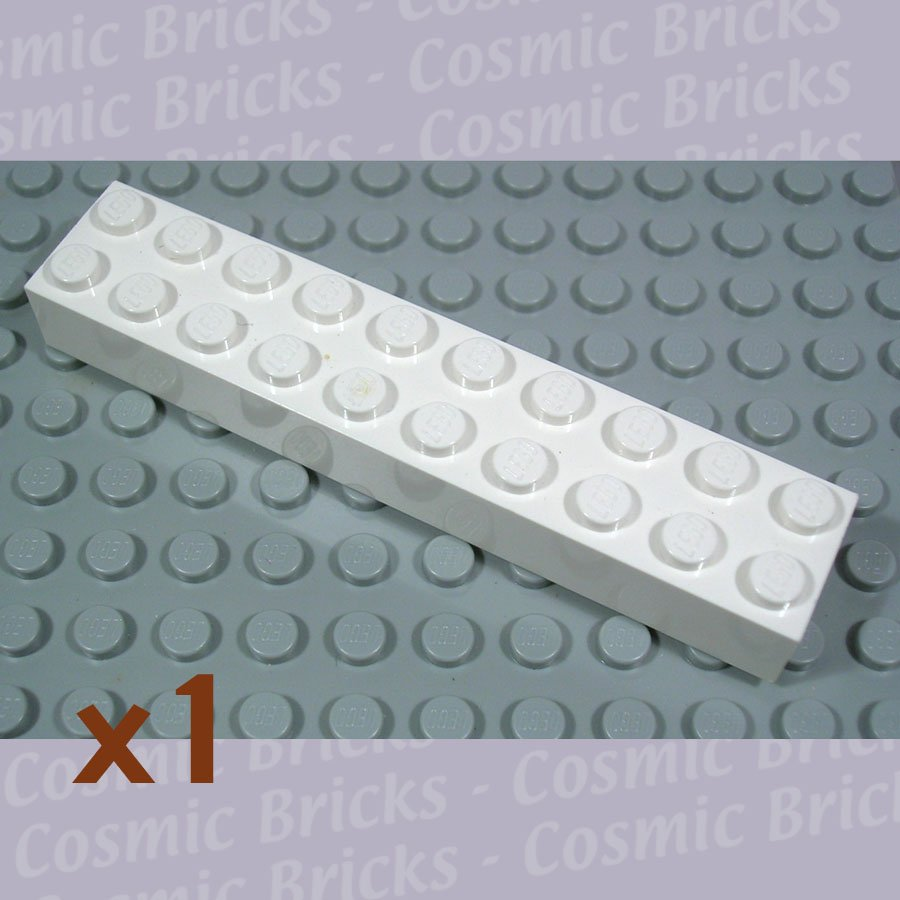LEGO White Brick 2x10 300601 3006 (single,U)
