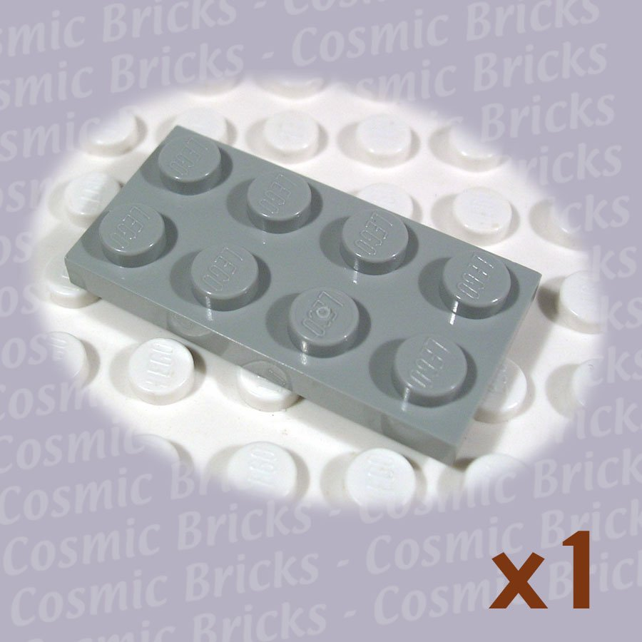 LEGO Light Gray Plate 2x4 302002 3020 (single,U)