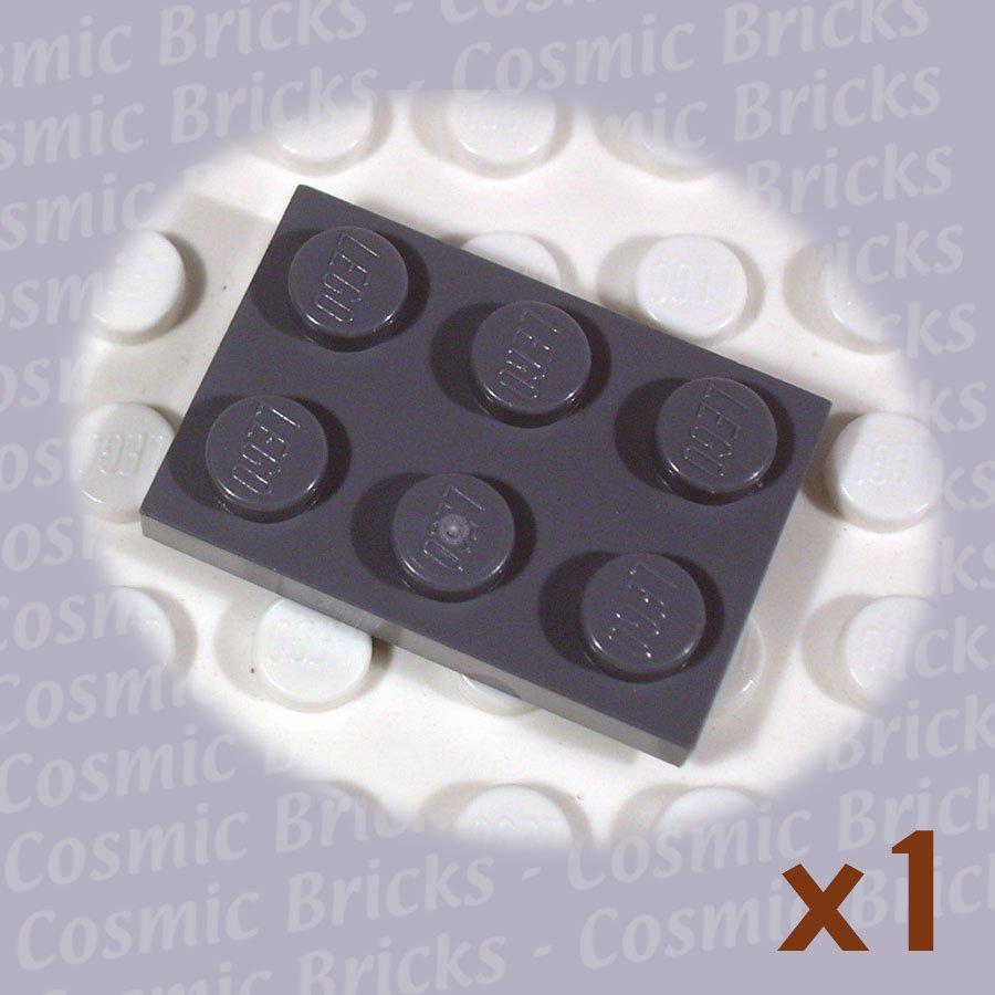 LEGO Dark Bluish Gray Plate 2x3 4211043 3021 (single,N)