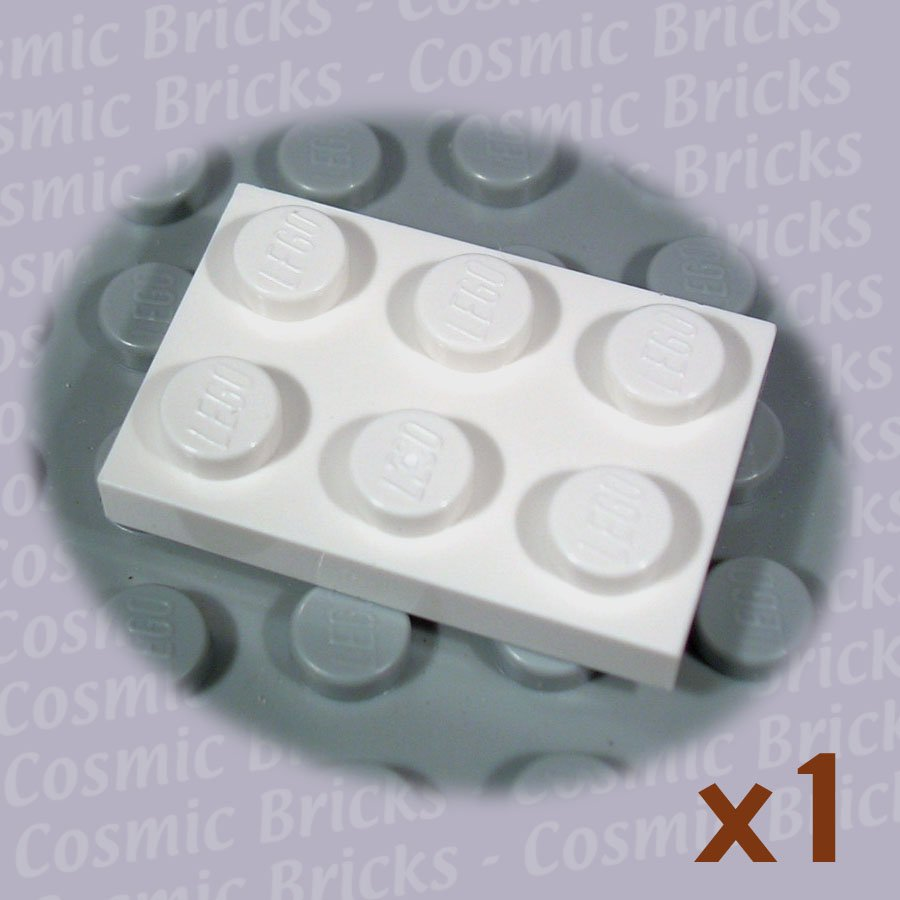 LEGO White Plate 2x3 302101 3021 (single,N)