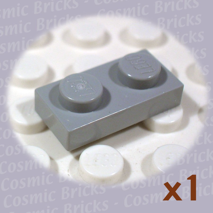 LEGO Medium Stone Grey Plate 1x2 3023 4211398 3023 (single,N)
