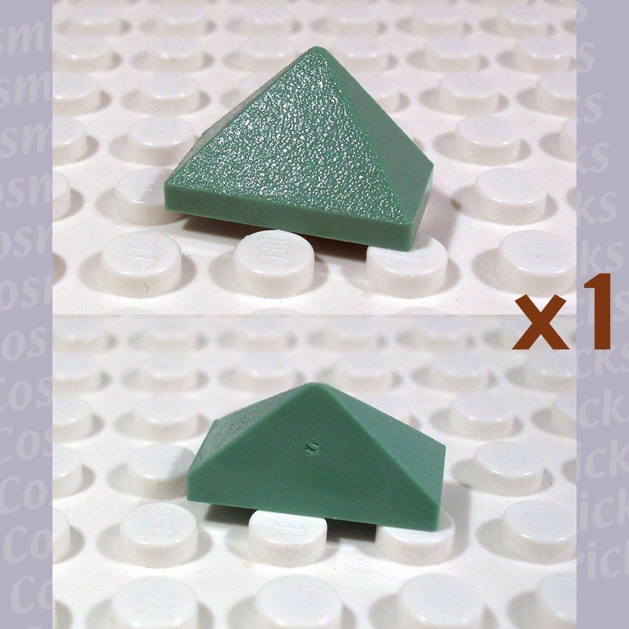 LEGO Sand Green Slope 45 2x1 Triple 4220427 3048 (single,N)