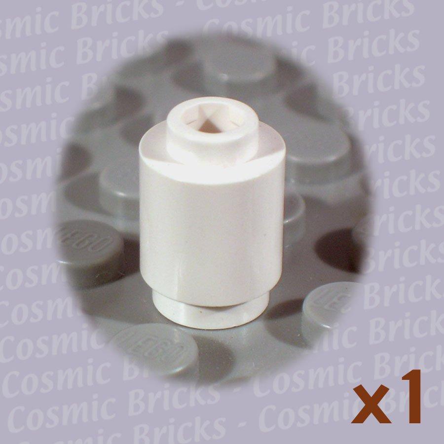 LEGO White Brick Round 1x1 306201 3062 SingleN