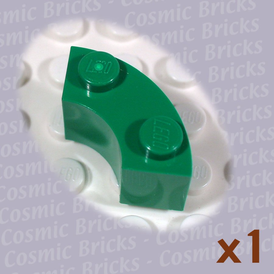 LEGO Dark Green Brick Round Corner 2x2 Macaroni 3063 (single,N)