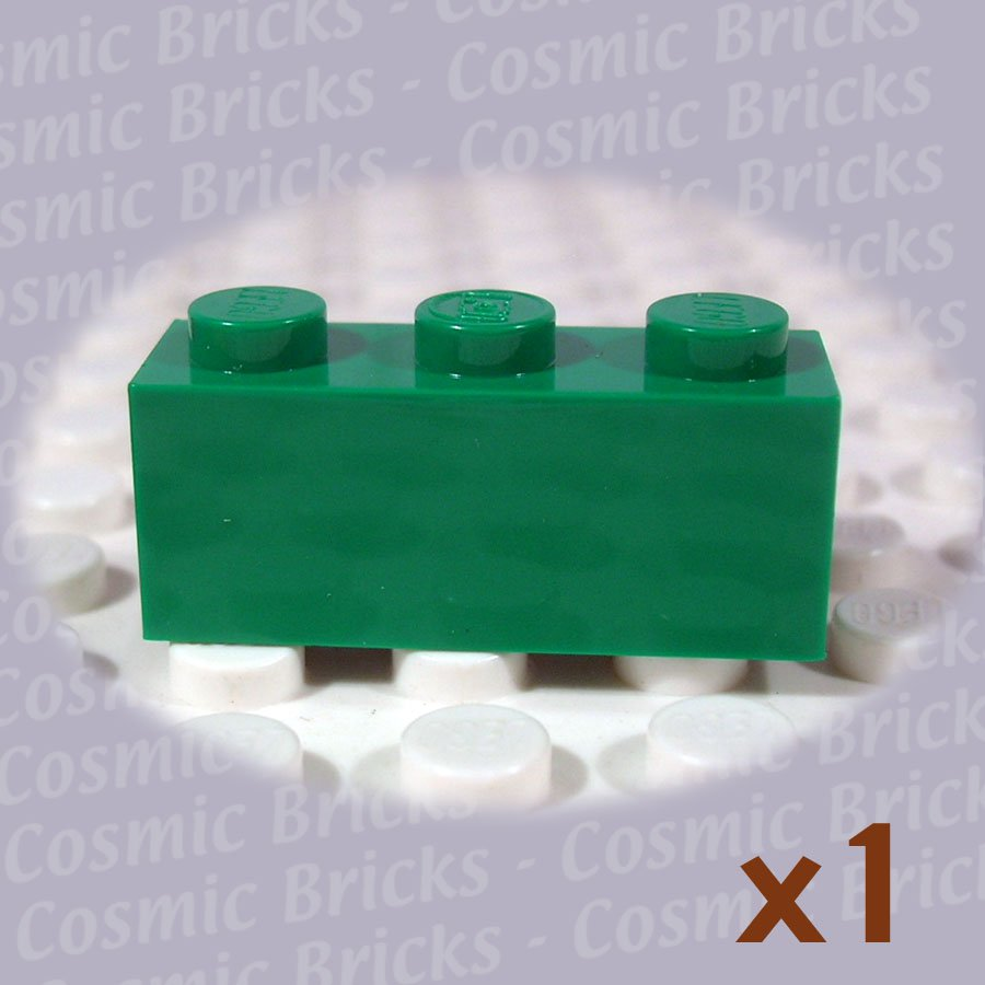 LEGO Dark Green Brick 1x3 4109679 3622 (single,U)