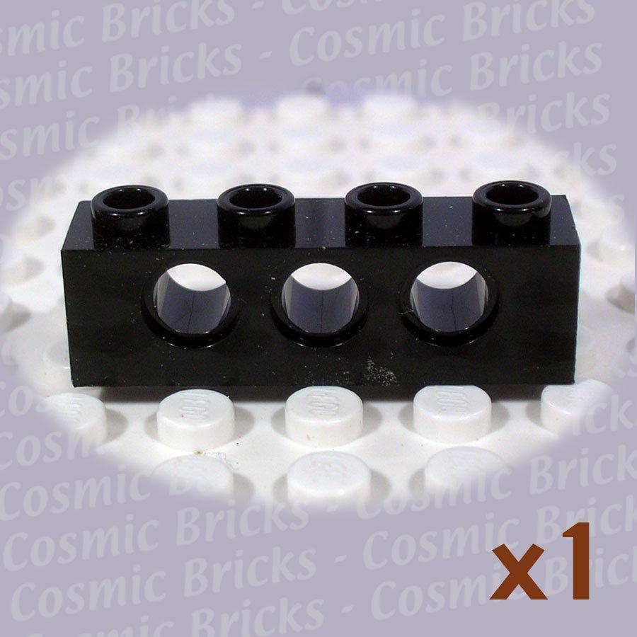 LEGO Black Technic Brick 1x4 with Holes 370126 3701 (single,N)