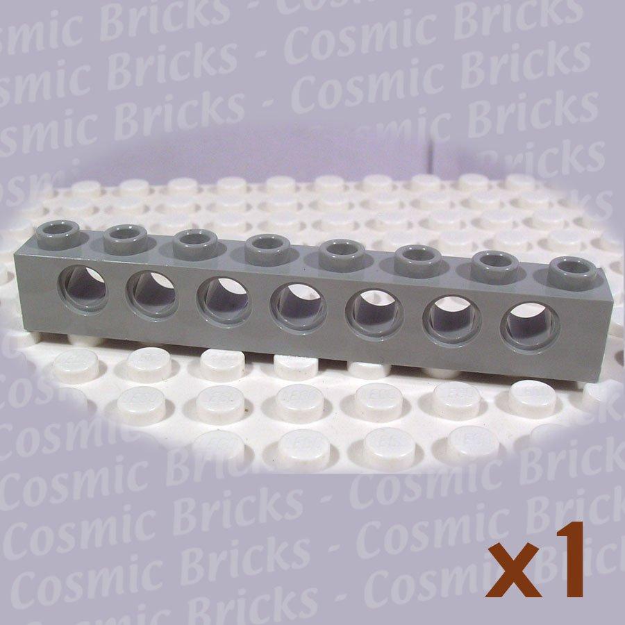 LEGO Light Gray Technic Brick 1x8 Holes 370202 3702 (single,N)