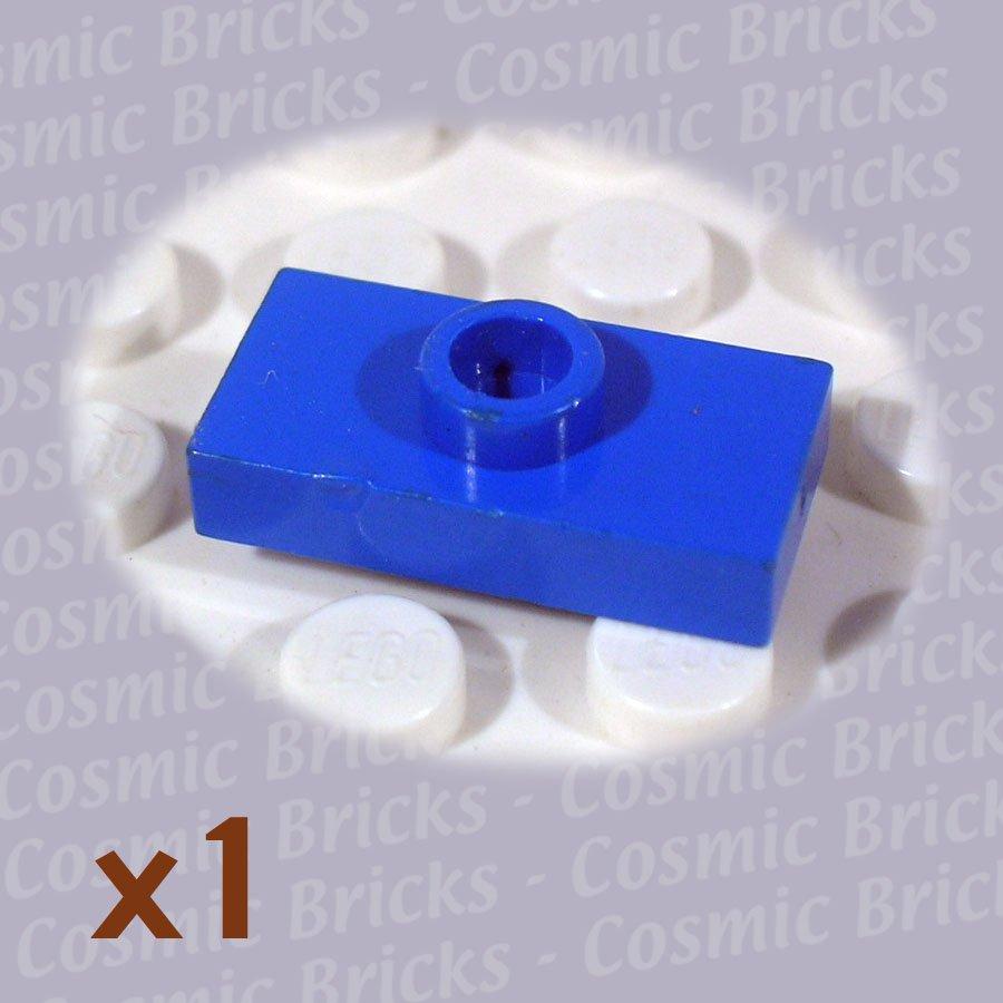LEGO Blue Plate Modified 1x2 1 Stud 379423 3794 (single,U)