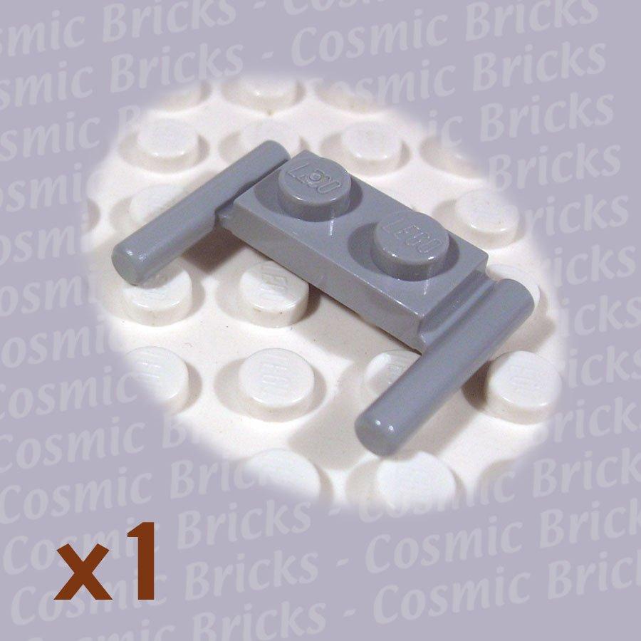 LEGO Light Bluish Gray Plate Modified 1x2 Handles 383926 3839 (single,N)