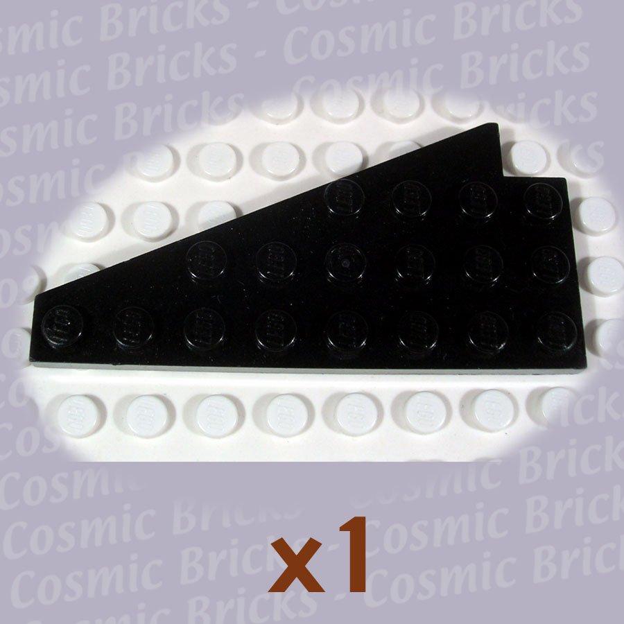 LEGO Black Wedge Plate 8x4 Wing Right 393426 3934 (single,U)