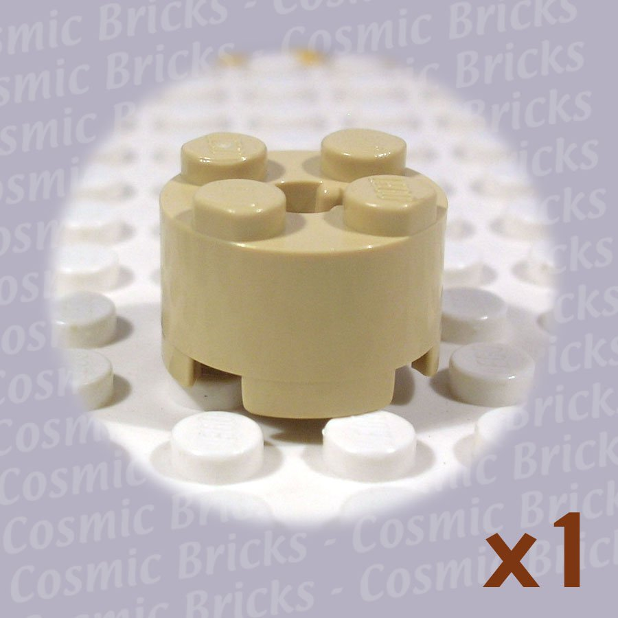 LEGO Tan Brick Round 2x2 4125220 3941 (single,U)