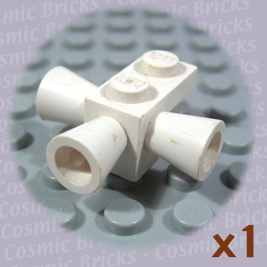 LEGO White Brick Modified 1x1 3 Loudspeakers Space Positioning Rockets 3963 (single,U)