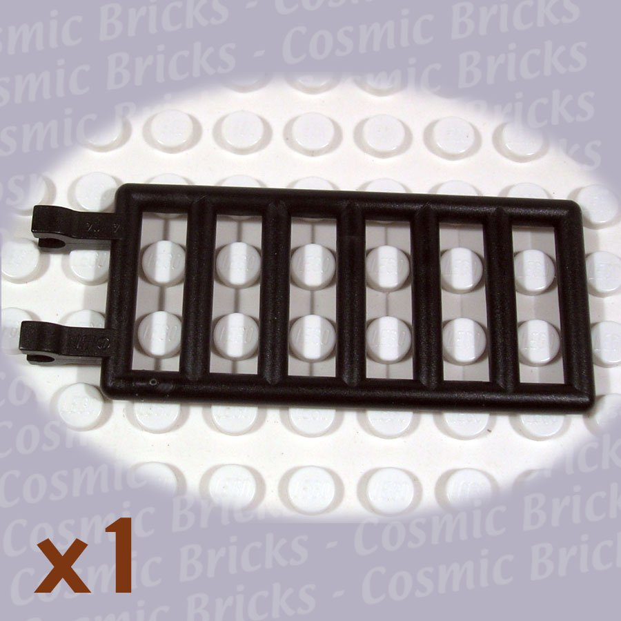 LEGO Black Bar 7x3 Double Clips 602026 6020 (single,N)