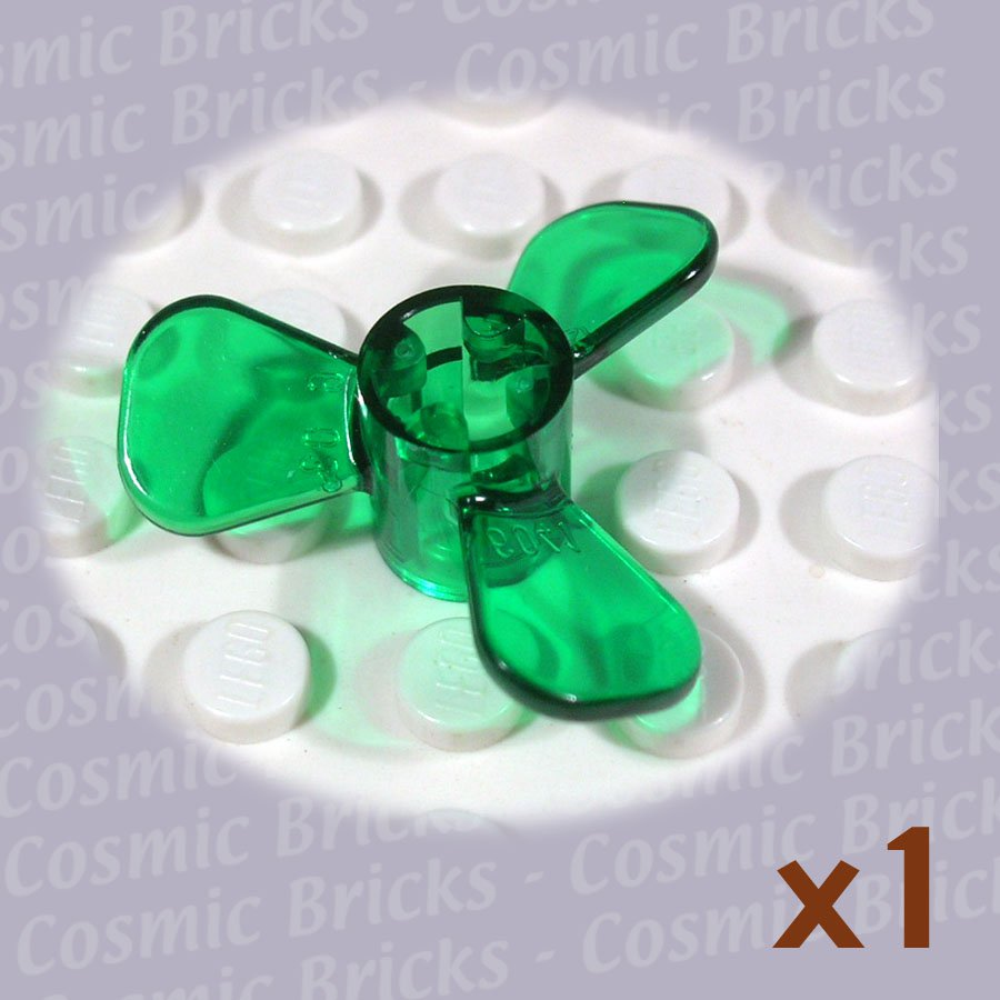 LEGO Trans-Green Propeller 3 Blade 3 D 6041 (single,N)