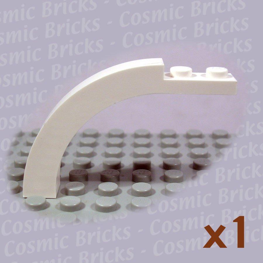 LEGO White Brick Arch 1x6x3.3 Curved Top 4143244 6060 (single,U)