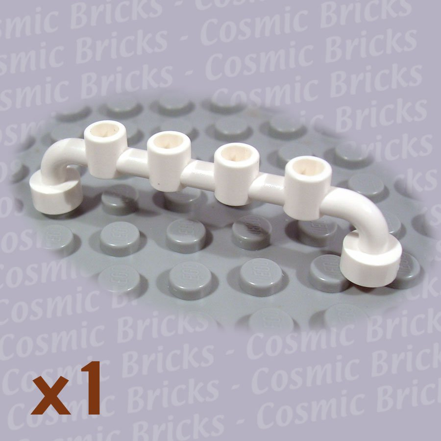 LEGO White Bar 1x6 Studs Open 4288961 6140 (single,N)