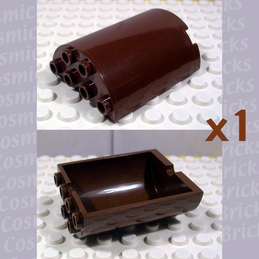 LEGO Brown Cylinder Half 2x4x4 6259 (single,U)