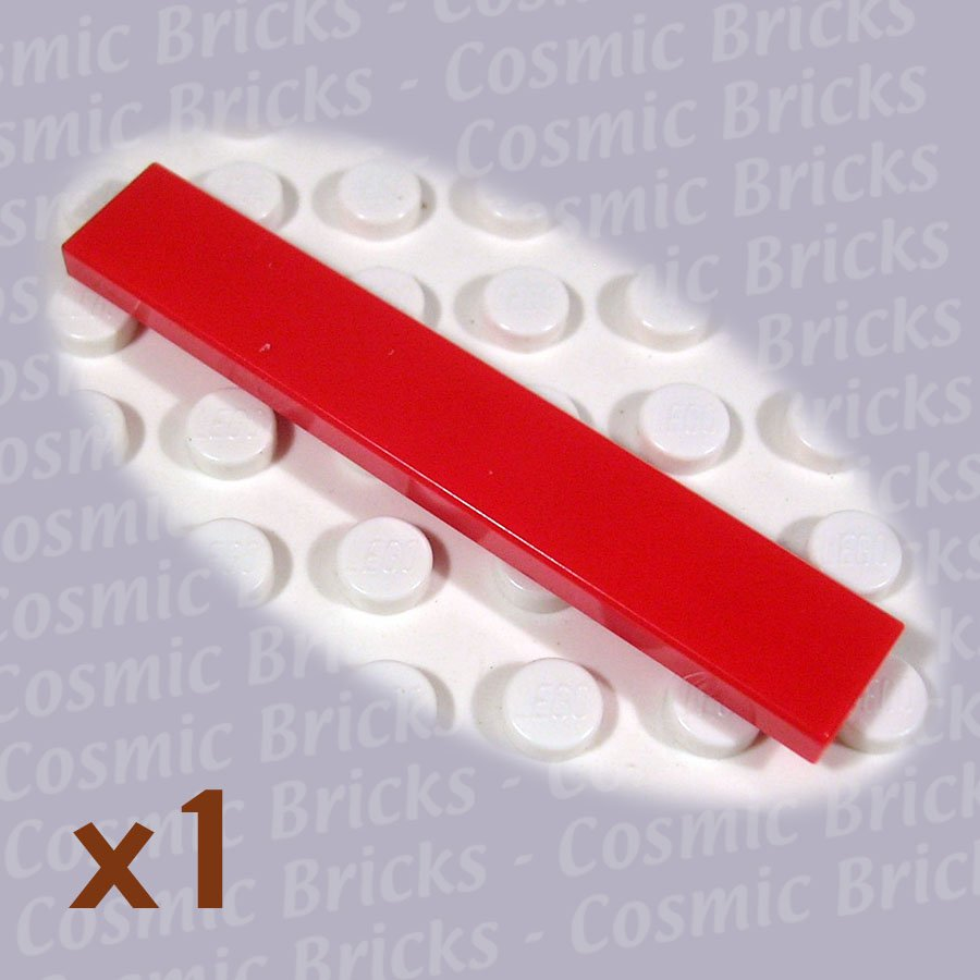LEGO Red Tile 1x6 4113858 6636 (single,N)