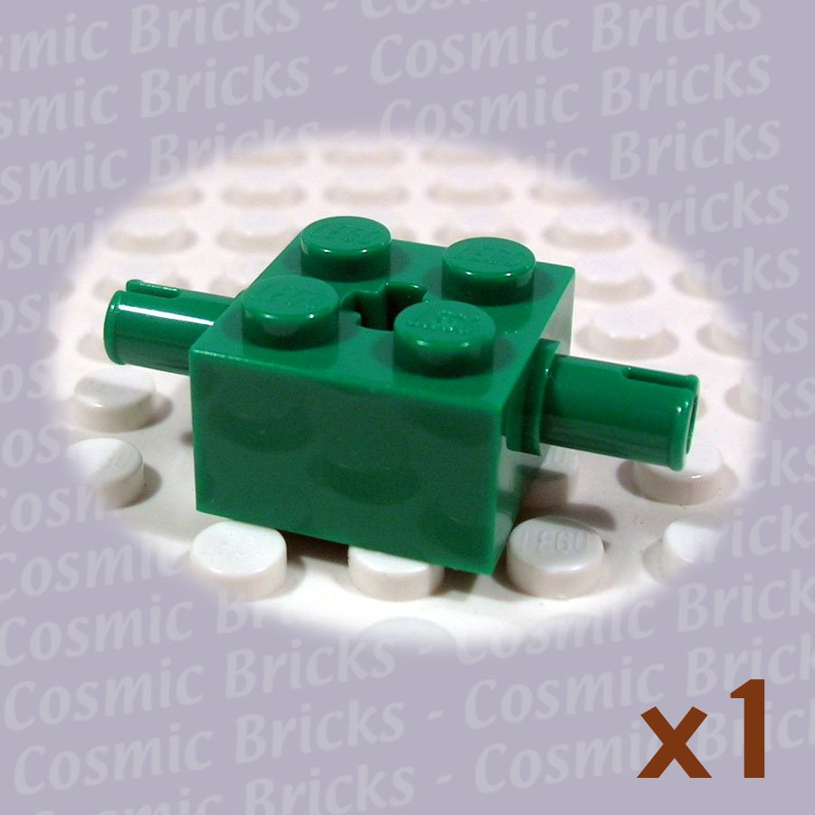 LEGO Dark Green Brick 2x2 Pins and Axle Hole 4141647 30000 (single,N)