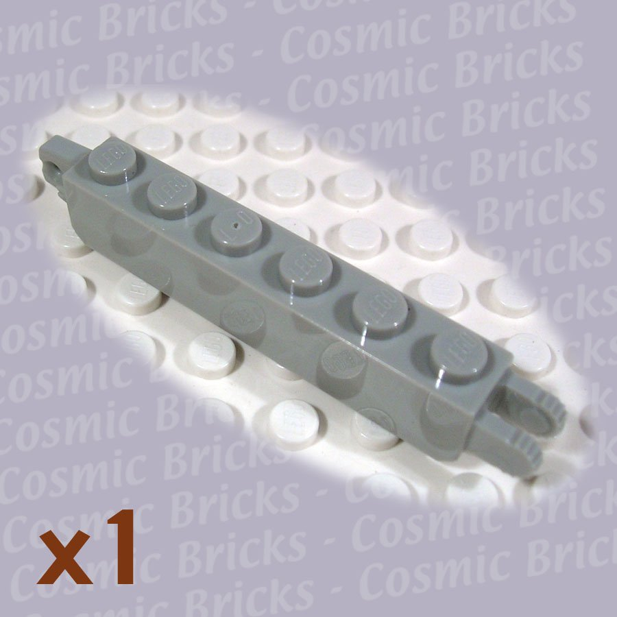 LEGO Light Gray Hinge Brick 1x6 Locking 1 and 2 Fingers Vertical 4144578 30388 (single,N)