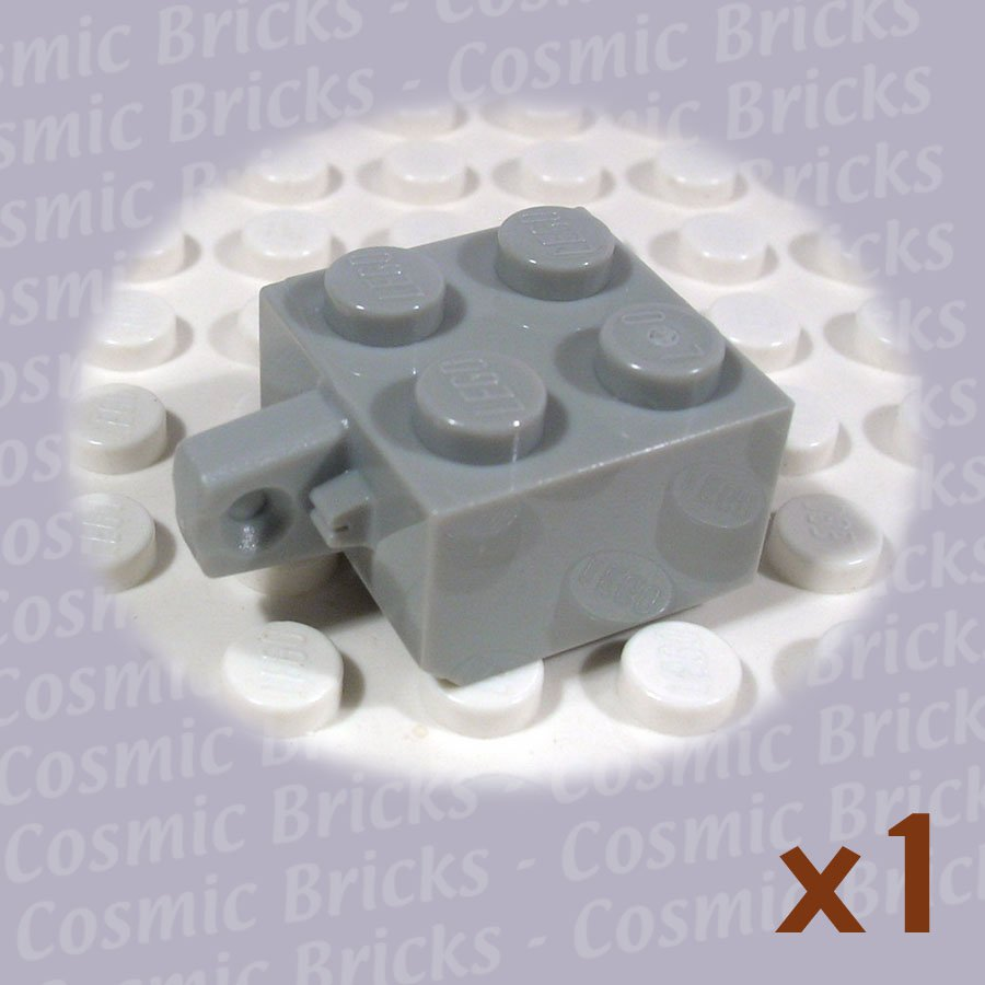 LEGO Light Gray Hinge Brick 2x2 Locking with 1 Finger Vertical 4163900 30389 (single,N)