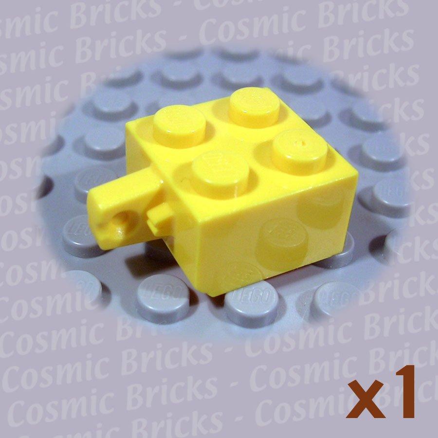 LEGO Yellow Hinge Brick 2x2 Locking with 1 Finger Vertical 4163901 30389 (single,N)