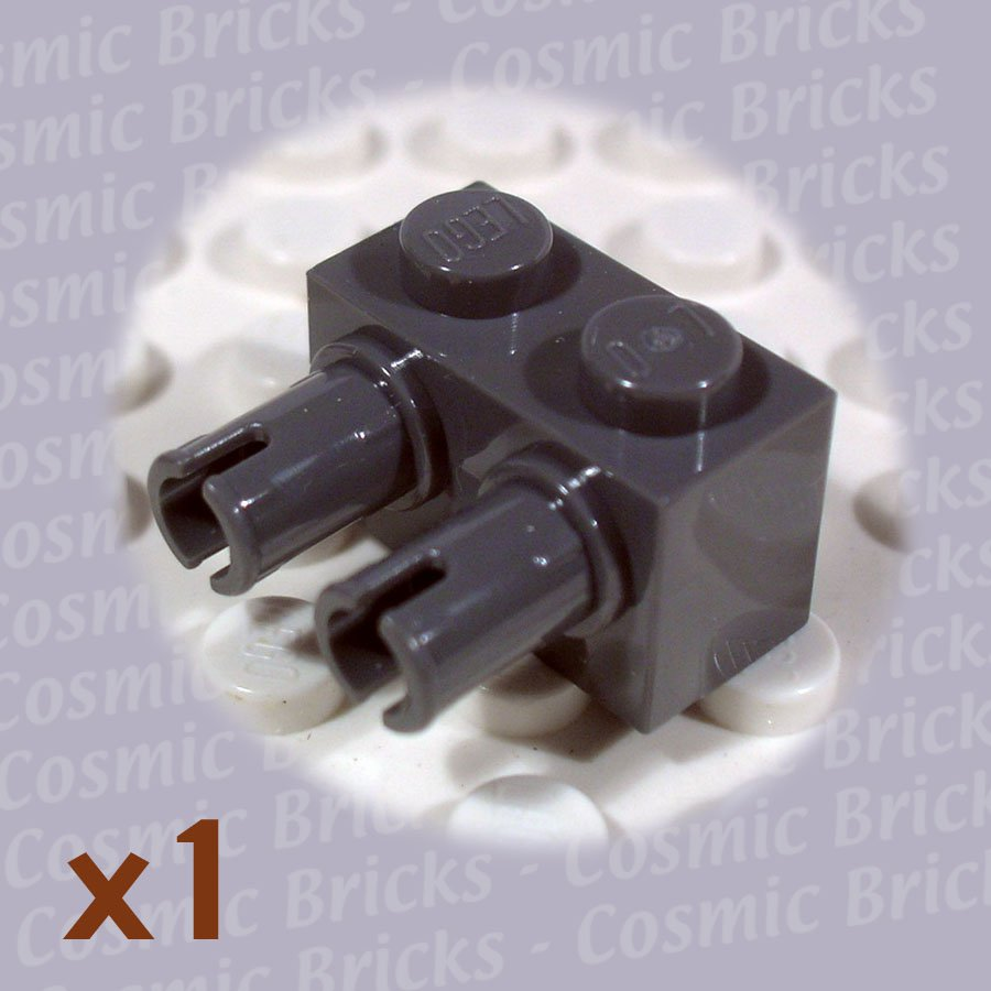 LEGO Dark Bluish Gray Brick Modified 1x2 2 Pins 4210697 30526 (single,N)