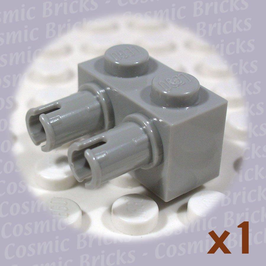 LEGO Light Gray Brick Modified 1x2 2 Pins 4142868 30526 (single,N)