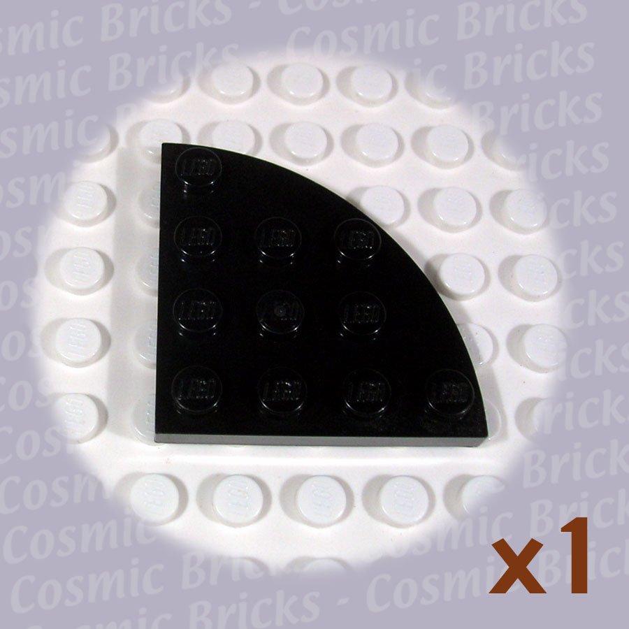 LEGO Black Plate Round Corner 4x4 4206156 30565 (single,U)