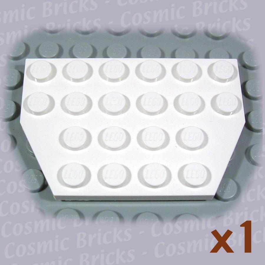 LEGO White Wedge Plate 4x6 Cut Corners 4117026 4508408 32059 (single,N)