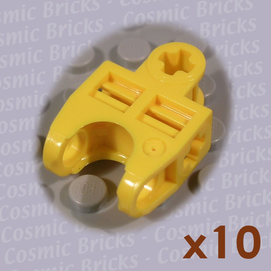 LEGO Bright Yellow Technic Axle Connector 2x3 Ball Socket 4120123 32174 (10 pack,N)