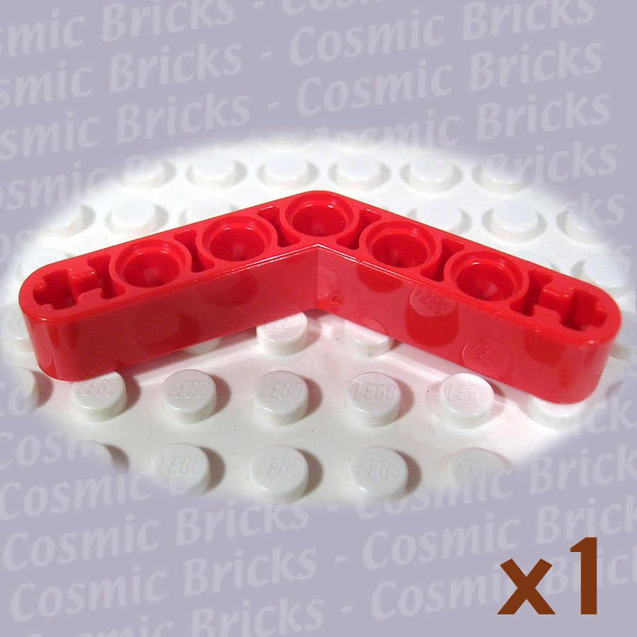 LEGO Bright Red Technic Liftarm 1x7 4-4 Thick/Bent 4174834 4263821 32348 (single,N)