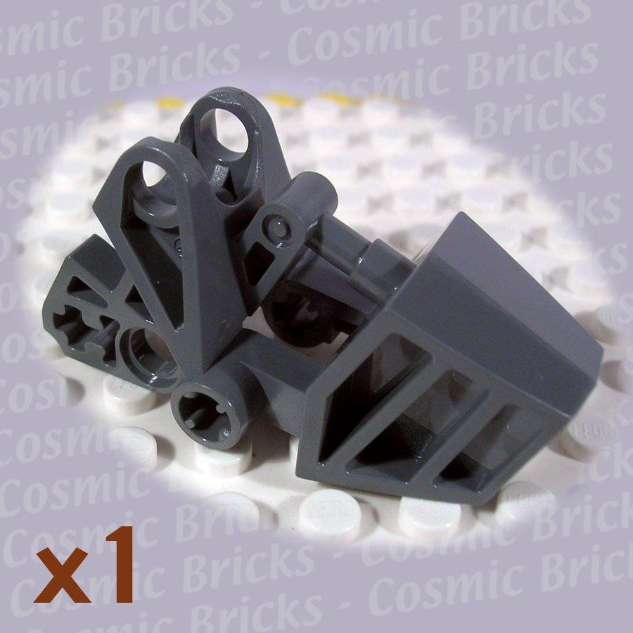 LEGO Dark Bluish Gray Bionicle Foot with Ball Joint Socket 3x6x2.3 4227757 32475 (single,N)