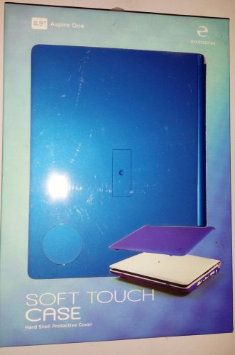 """Acer Aspire One 8.9"""" Laptop, by e-ccessories, Rubberized Soft Touch Case, Blue"""