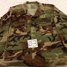 Woodland Camo BDU Men's Shirt,Summer Cloth, Lrg/Reg.US Navy,First Class Patch-3
