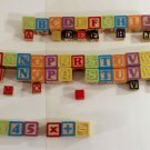 Wooden Alphabet & Number Blocks Blocks Multiple Colors 48 Large 13 Small