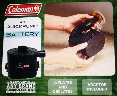 Coleman 4D Universal Quick Pump Air Bed Pump Blow-up Mattress Battery Inflator
