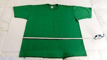 Kelly Green Cotton T-Shirt, Men's (XL) Jerzees