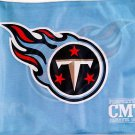 "Tennessee Titan Car Flag, Very Nice, Baby Blue, 15 x 11 ~ 19"" Pole"