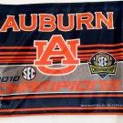 "Auburn Tigers 2010 SEC Champs Car Flag 15x11 SEC Orange/Blue/White 20"" Pole"