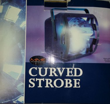 Curved Strobe Light, LITE F/X Attitude Lighting model 1818�X Party, Disco Manual
