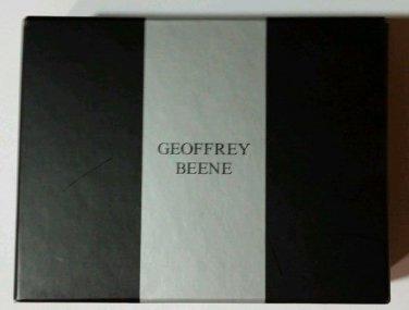 *NEW* Geoffrey Benne Dark Brown Trifold Leather Wallet, Photo Holder, ID Window