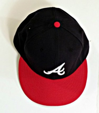 Atlanta Braves Fitted Baseball Cap Size 7 1/2, Raised Embroidered Letter A