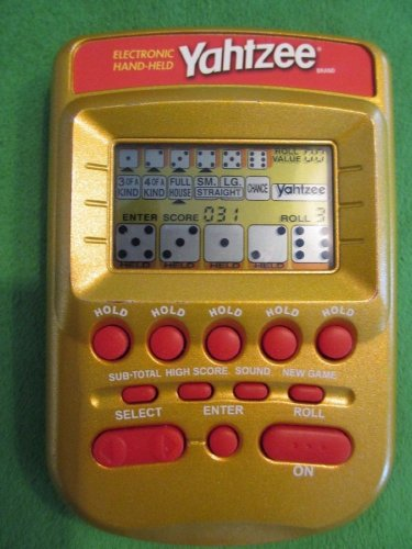 Yahtzee Game MB Handheld Electronic Travel Pocket Gold WORKS GREAT!