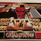"Vintage Chicago Bulls 6 Championship Framed Metal Poster 20""X24"" Near Mint"