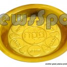 SET OF 12 UNITS -PLASTIC GOLDEN PASSOVER PLATE 20 CM (12)