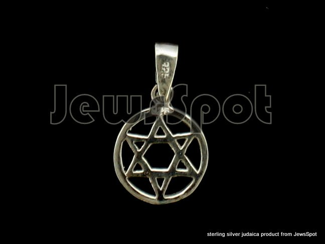 STERLING SILVER PENDANT- M. DAVID IN A CIRCLE 1. 20 CM