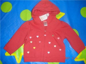NWT GYMBOREE TINY HEARTS HOODIE SIZE 18-24 MONTH