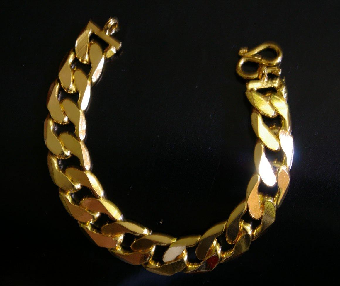 "6.7"" shinny chain 24K gold filled bracelet 26"