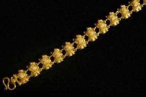"6.6"" lovely mouse 24K gold filled bracelet bangle 28"
